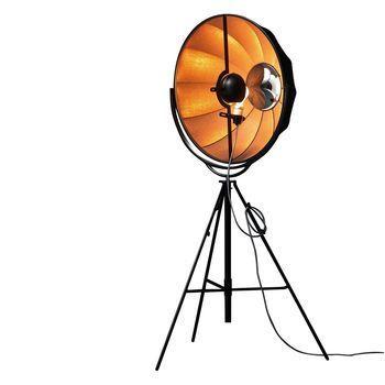 Pallucco - Fortuny Bronze Rubelli LED Stehleuchte - schwarz/bronze/Stoff/3000K/5000lm/mit Dimmer