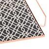 GAN - Mix&Match Tablett quadratisch 40x40cm - schwarz/weiß/48x40x3H cm