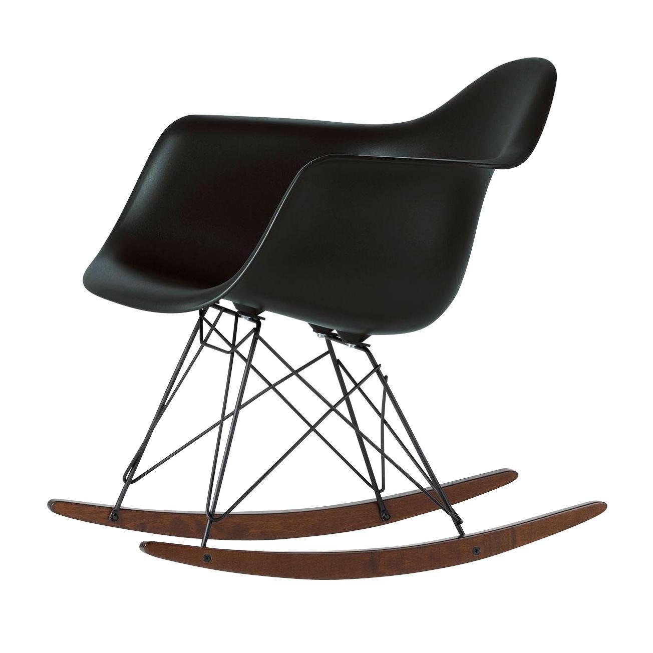 Vitra   Eames Plastic Armchair RAR Rocking Chair Black   Black Basic Dark/ Seat Polypropylene
