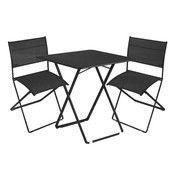 Fermob - Plein Air Gartenset - lakritz schwarz/2 Stühle 1 Tisch/Tisch 71 x71cm