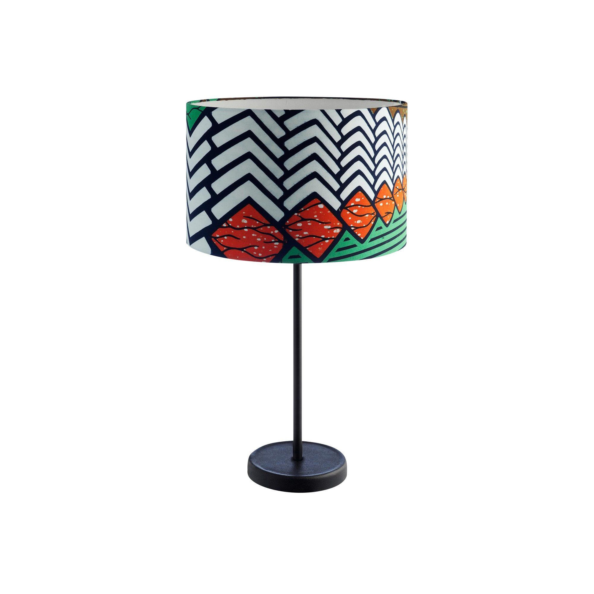 ... HAY   Cast Drum Table Lamp Ø35cm   White/red/green/fabric Think ...