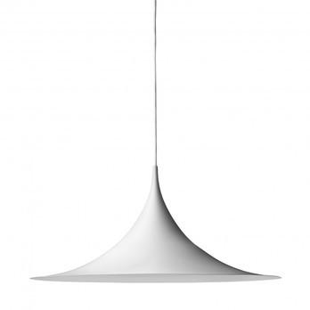 Gubi - Semi 60 Pendelleuchte - weiß / Ø60cm/matt
