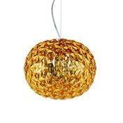 - Planet LED Pendelleuchte  - goldgelb/H 27cm/ Ø 33cm