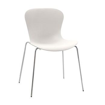 Fritz Hansen - Nap Stuhl 45cm - milchweiß/Gestell verchromt
