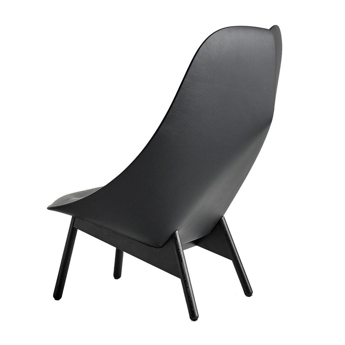 uchiwa lounge chair frame black hay. Black Bedroom Furniture Sets. Home Design Ideas