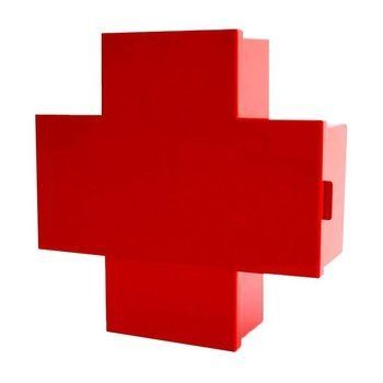 Cappellini - Cross Container/Arzneischrank - rot/glänzend/43.5x15.5x45cm