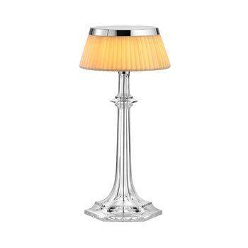 Flos - Bon Jour Versailles LED Tischleuchte  - transparent/chrom/Krone soft/H:42.3cm x Ø31.6cm/2700K/900lm