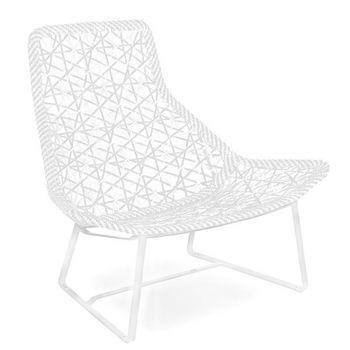 Maia relax armchair garden chair kettal - Fauteuil de jardin blanc ...