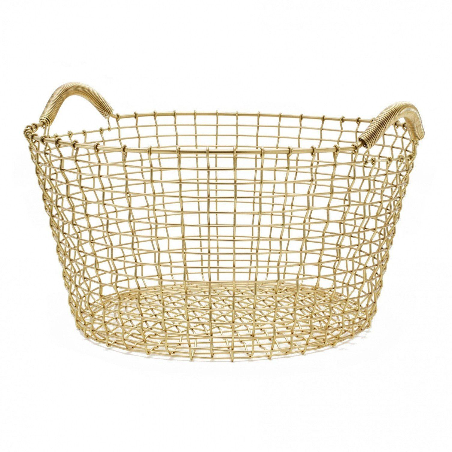 Famous Classic 35 Brass Wire Basket | Korbo | AmbienteDirect.com JH83