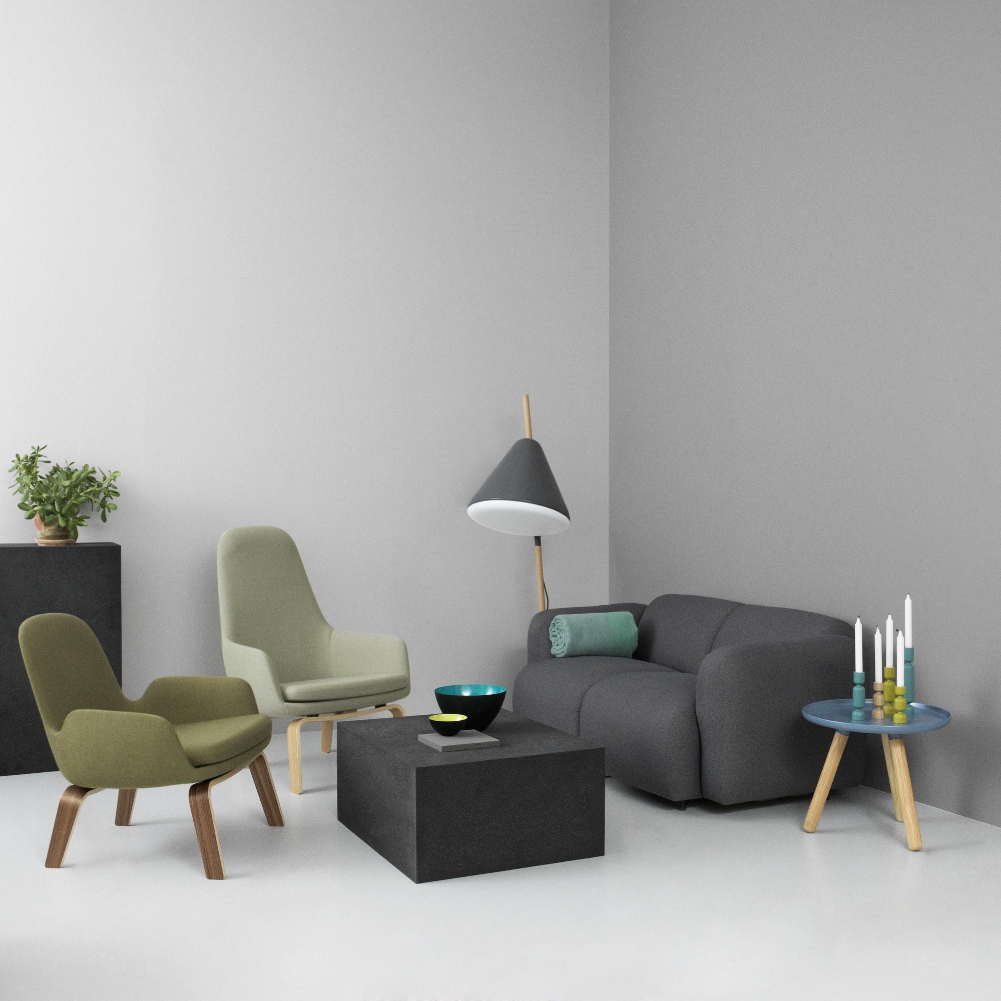 Normann Copenhagen Era Lounge Armchair Oak Frame Ambientedirect
