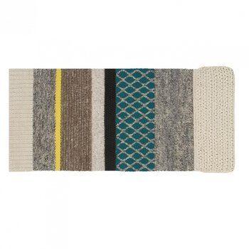 GAN - Mangas Rectangular Teppich  - grau/türkis/gelb/300 x 145cm