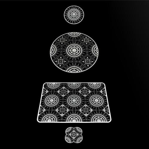 Driade - Italic Lace Round Coaster Untersetzer 4tlg.