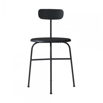 Menu - Afteroom Dining Chair 4 Stuhl - schwarz/pulverbeschichtet/BxHxT 45,5x76,5x51cm