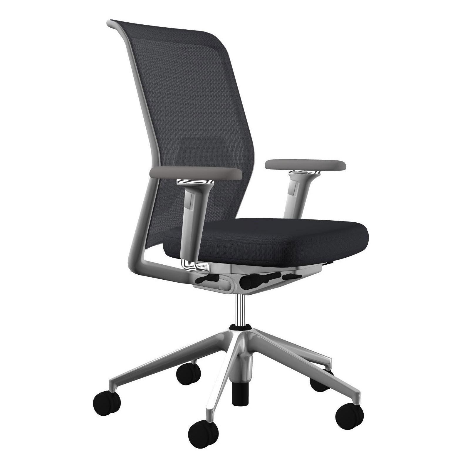 Id Mesh Office Chair Aluminium Base