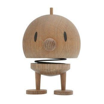 Hoptimist - Hoptimist Woody Bumble Wackelfigur - eiche/H13,5cm/Ø10,0cm/mit Federmechanismus