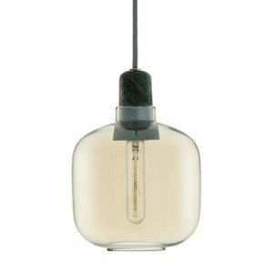 Normann Copenhagen - Amp - Suspension  - or/vert/H:17cm Ø14cm/sans ampoule