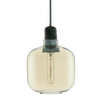 Normann Copenhagen - Amp Pendelleuchte - gold/grün/H:17cm Ø14cm/exkl. Leuchtmittel