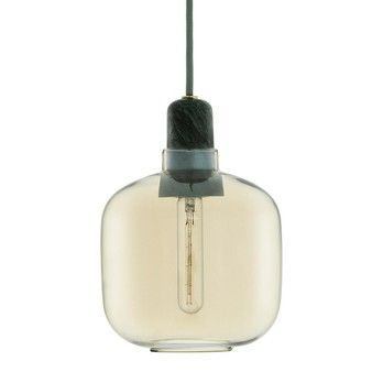 Normann - Amp Pendelleuchte - gold/grün/H:17cm Ø14cm/exkl. Leuchtmittel