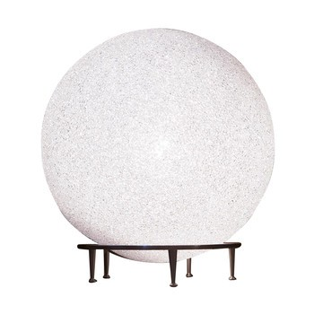 Lumen Center Italia - Ice Globe Giant 02 Boden-/Tischleuchte - weiß/satin-nickel/matt/H81cm/Ø78cm/mit Dimmer