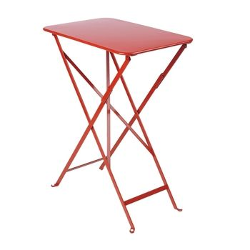 Fermob - Bistro Folding Table 37x57cm - poppy/lacquered