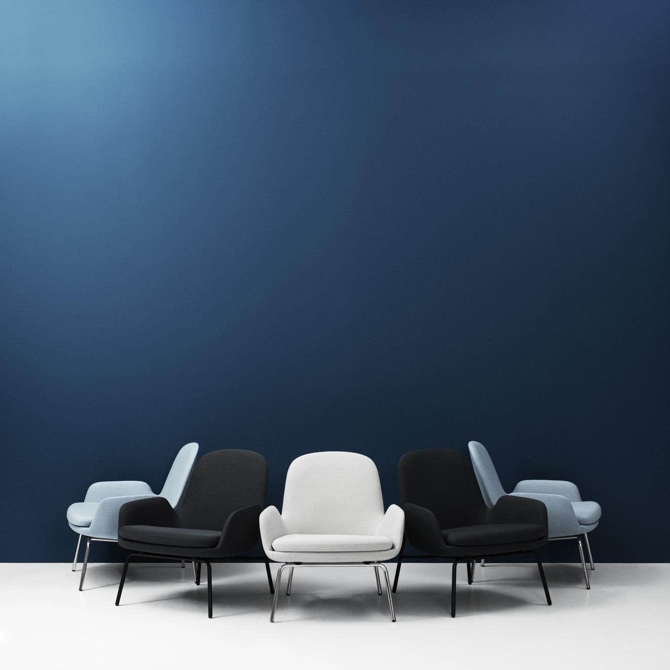 Normann Copenhagen Era Lounge Armchair Steel Frame Ambientedirect