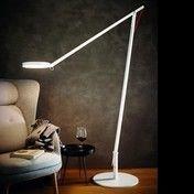 - String XL LED-Stehleuchte - weiß/Kabel orange/2.900 lumen, 2.700°K/H: max. 350cm