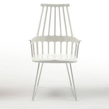 Kartell - Comback Chair Kufe - weiß/Kufe weiß