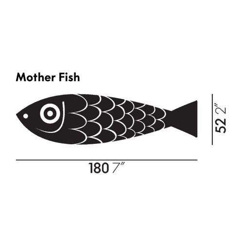 Vitra - Mother Fish and Child Holzfigur/-fisch - Strichzeichnung