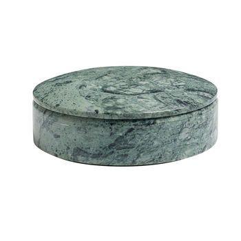 HAY - Lens Box M nicht stapelbar - grün/marmor/Ø 14cm