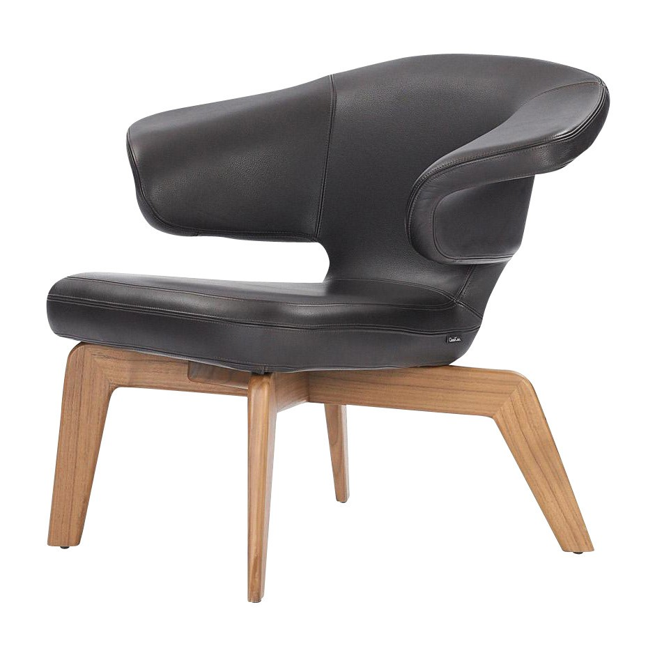 ClassiCon   Munich Lounge Chair   Black/Classic Leahter/frame Oak ...