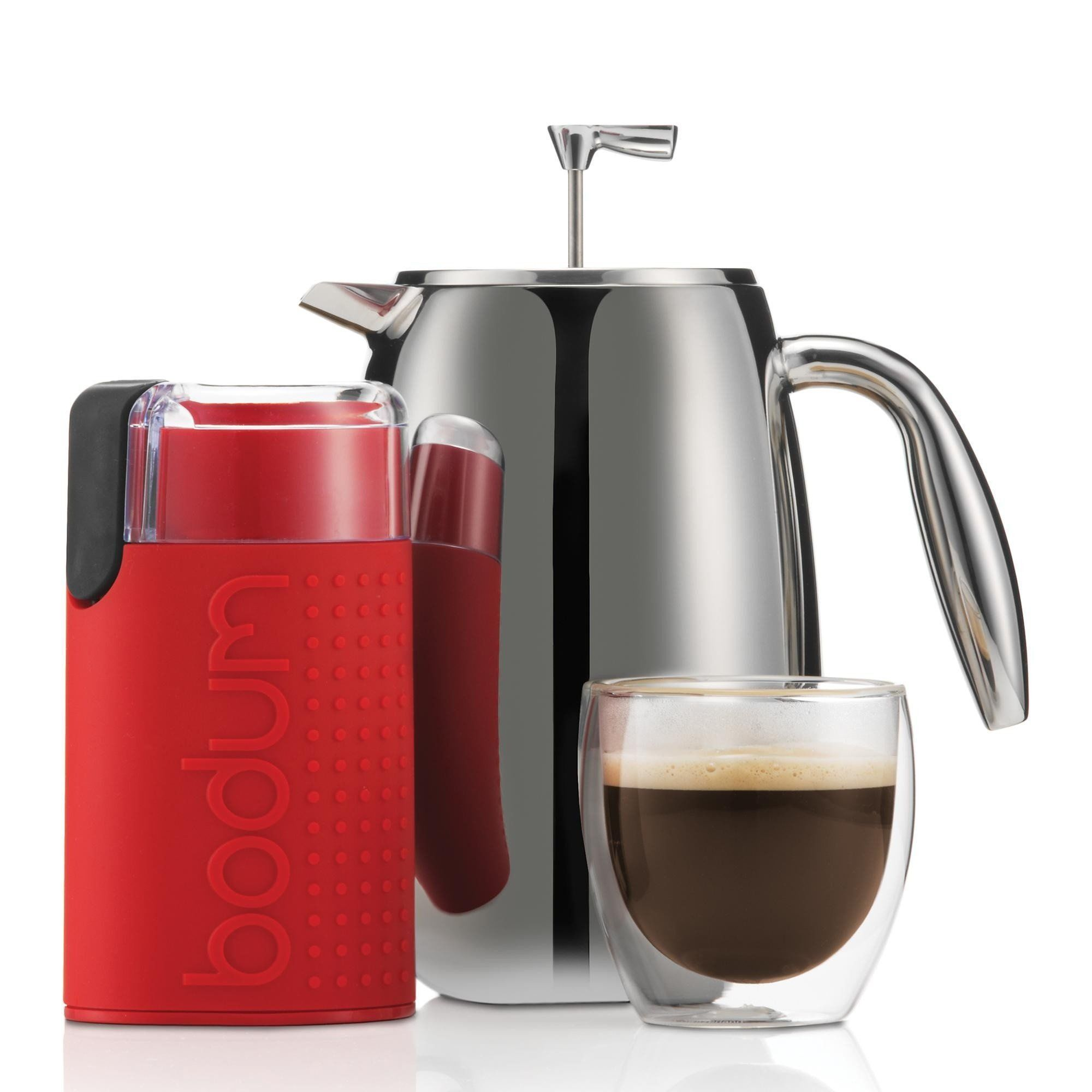 Bodum Columbia 1 L Bodum Brazil Red French Press Coffee Maker Cup