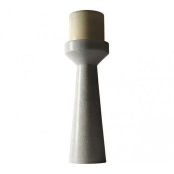Tom Dixon - Stone Kerzenhalter L - weißer Marmor/H: 26cm