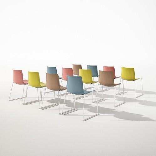 Arper - Catifa 46 0251 Stuhl einfarb. Gestell weiß