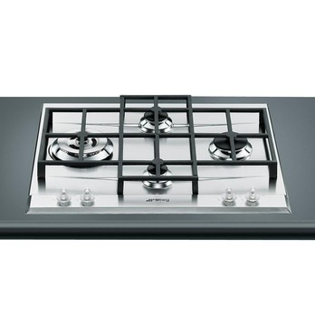 Smeg - P1641XTD Inset Gas Cooking Plate - stainless steel/W x D: 56 x 48cm