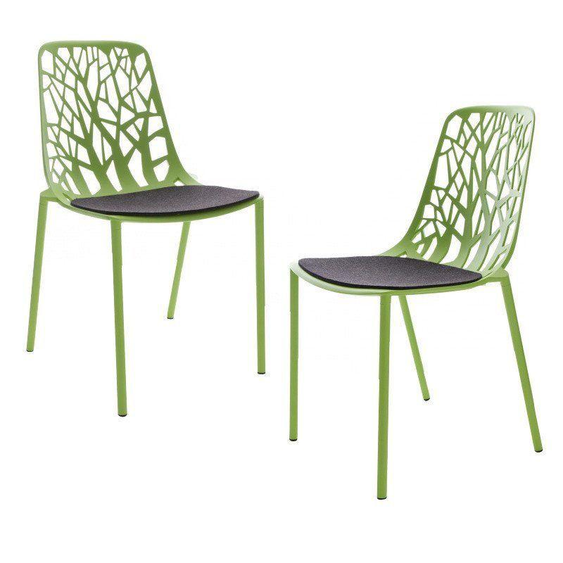 Forest 2 chaises de jardin coussins incl fast - Coussins de chaises de jardin ...