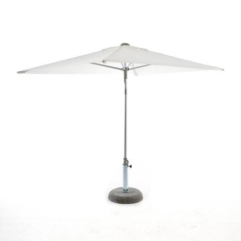 Jan Kurtz - Elba Sonnenschirm rechteckig - weiß/Polyester/mit Knickgelenk/ohne Schirmständer/200x150cm