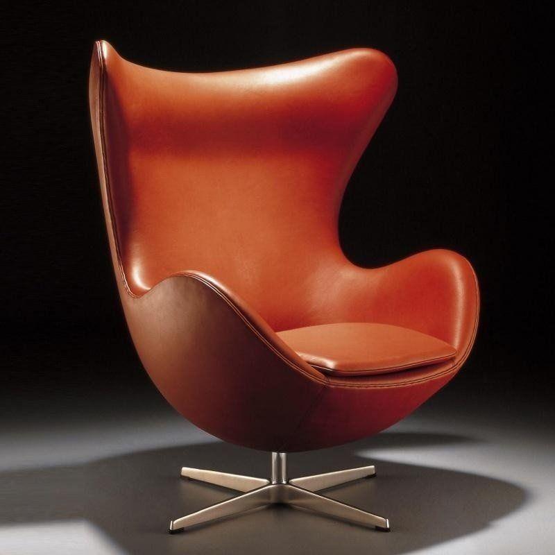 ... Fritz Hansen   Aktion Egg Chair/Das Ei Sessel + Hocker Leder ...