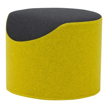 Softline - Coral Hocker - gelb/schwarz/Stoff Filz 847/610/H 40, Ø 50cm
