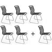 Montana - Aktionsset '5+1' Tivoli Stuhl - schwarz/Gestell stahl