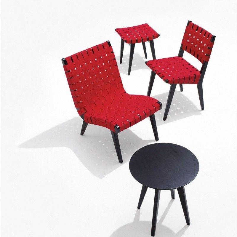 risom chauffeuse fauteuil lounge knoll international. Black Bedroom Furniture Sets. Home Design Ideas