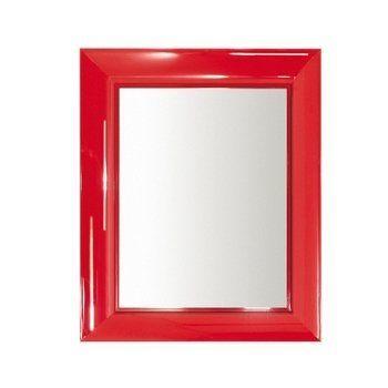 Kartell - Francois Ghost Spiegel - rot/transparent/65 x 79 x 5,7cm