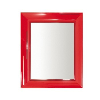 Kartell - Francois Ghost Spiegel - rot/transparent/65 x 79 x 5,7cm