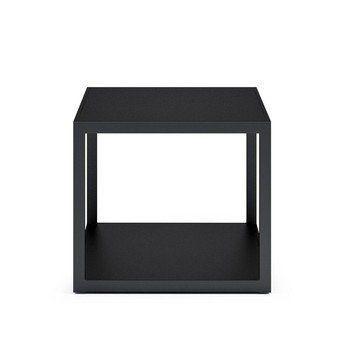 Röshults - Garden Easy Beistelltisch 50x50cm - anthrazit/matt/Gestell schwarz/50x50cm
