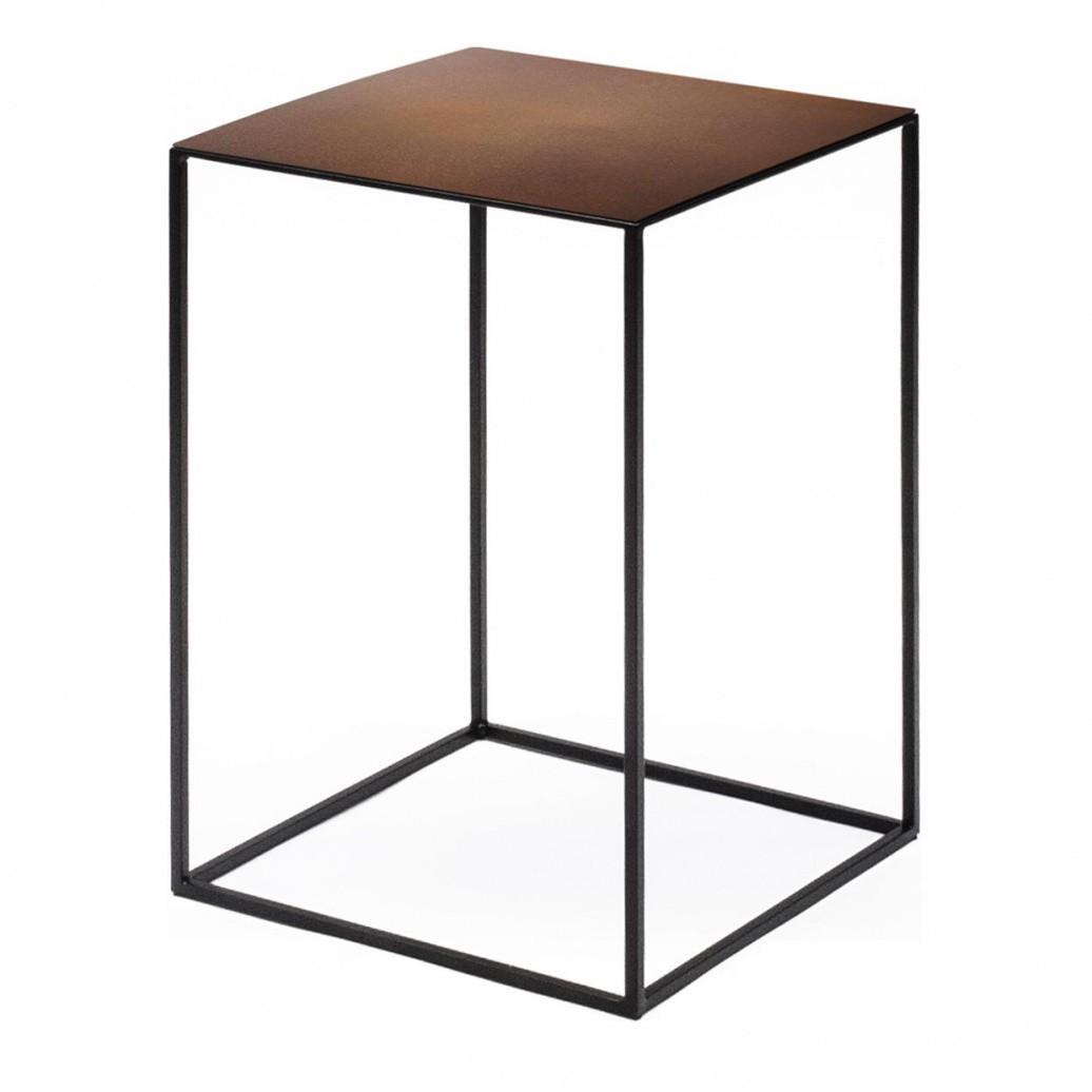 Zeus   Slim Irony Side Table   Copper ...