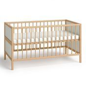 Flötotto - Flötotto Profilsystem Babybett/Juniorbett - buche/Flächen weiß/melaminharzbeschichtet/mit Lattenrost ohne Matratze/Matratzenmaß: 140 x 70cm