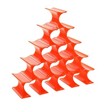 Kartell - Infinity Flaschenständer - orange/Polypropylen