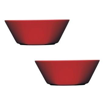 iittala - Teema Schalen 2 Stück - rot/2 Stück/Ø15cm
