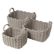 Blomus - Corda Basket With Handles Set Of 3