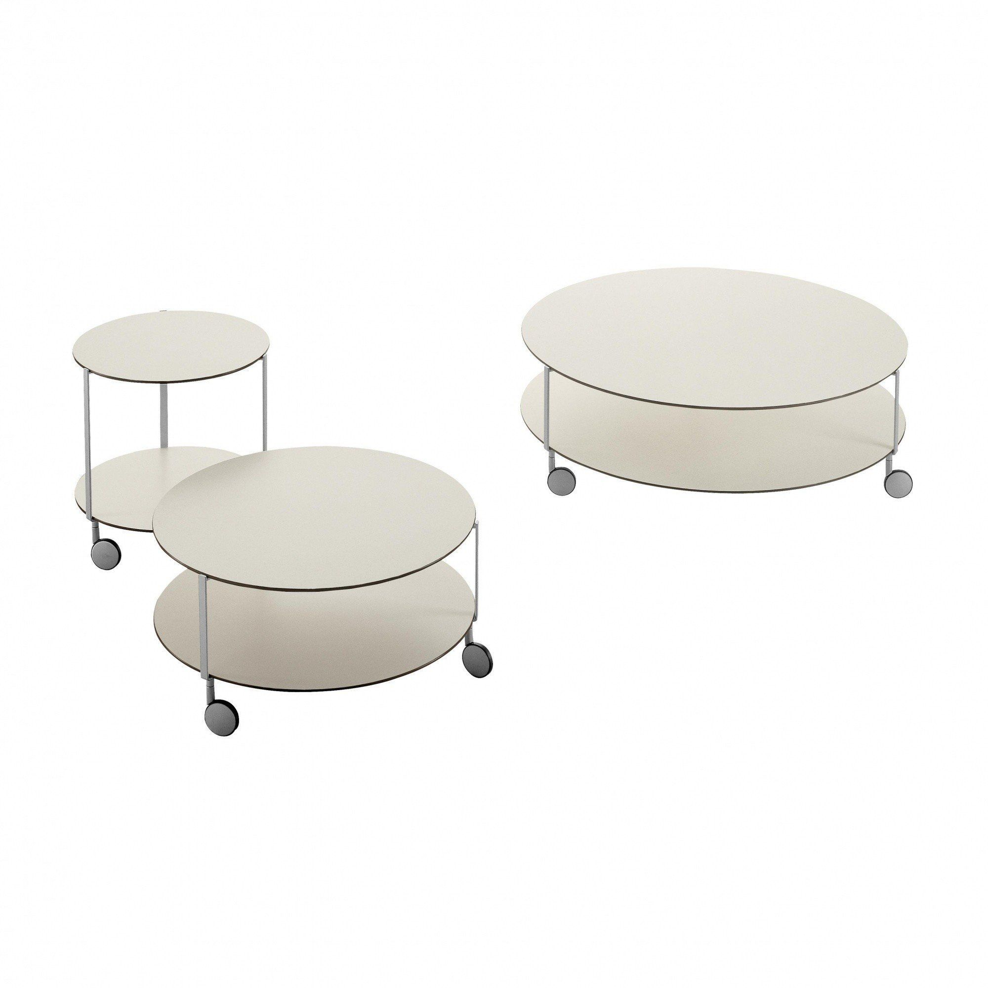 Zanotta  Gir Castor Mounted Table With Wheels