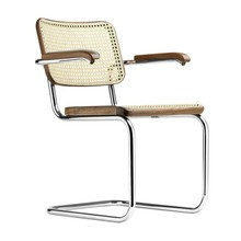 Thonet - S 64 V Cantilever Armchair with Wickerwork